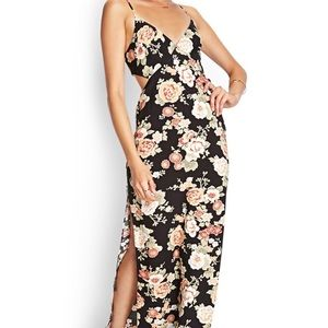 Sexy Cutout Floral Maxi Dress✌️